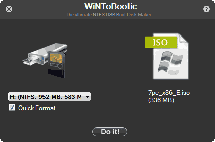 Создание загрузочного USB в WiNToBootic