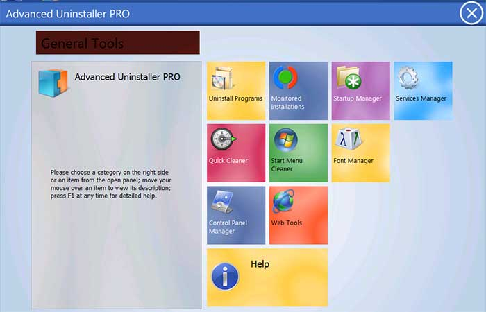 Главное окно программы Advanced Uninstaller Pro