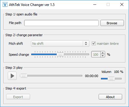 Бесплатная программа AthTek Voice Changer