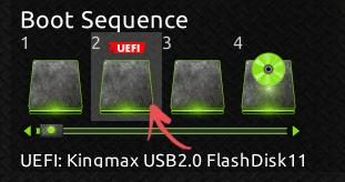 Очередность загрузки в UEFI BIOS