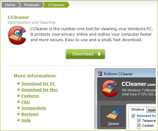 Скачать CCleaner бесплатно