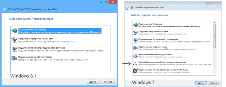 Создание сети в Windows 7 и Windows 8