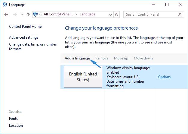 Скачать украинский языку на windows 10