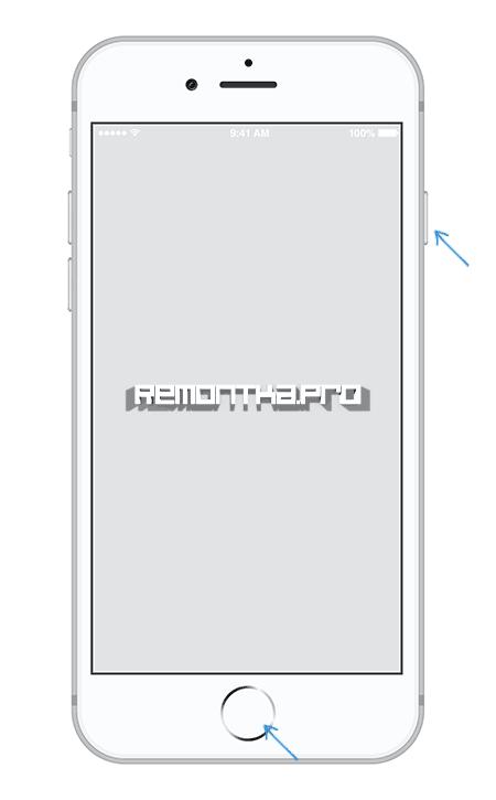 Создание скриншота на iPhone