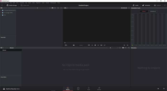 Управление клипами на вкладке Media