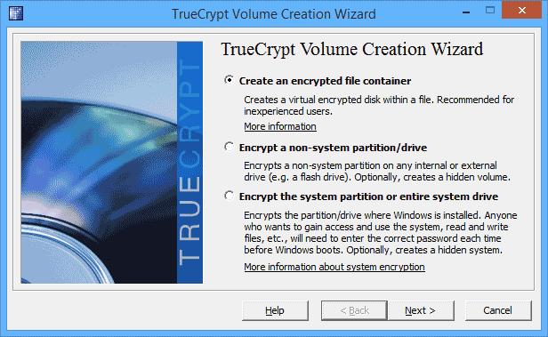 Создание зашифрованного файлового контейнера