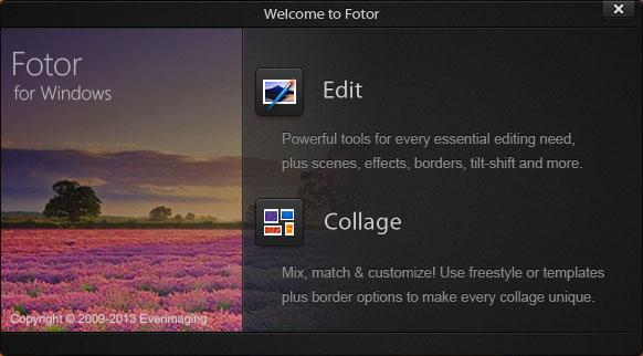 Запуск редактора fotor