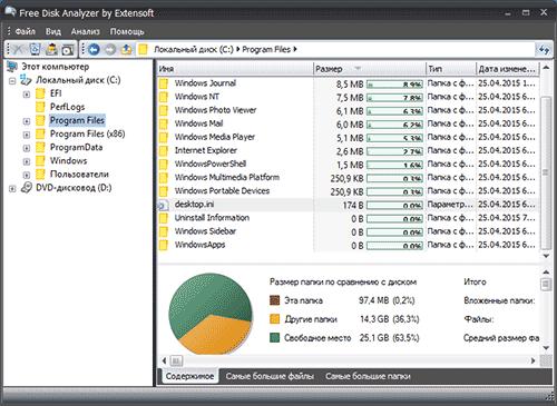Программа Free Disk Analyzer