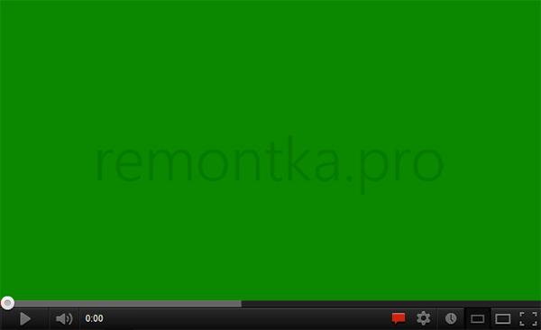 Проблема с зеленым экраном на YouTube
