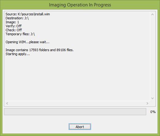 Копирование Windows 8 на USB