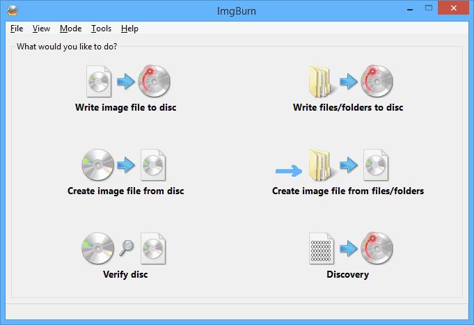 Создание образа в ImgBurn