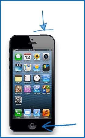 Делаем снимок экрана iPhone