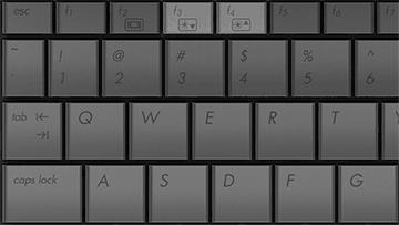 Клавиши регулировки яркости на ноутбуке