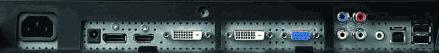Входы на мониторе