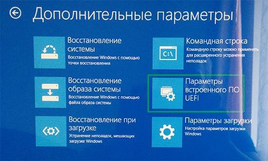 Дополнительные параметры загрузки Windows 8