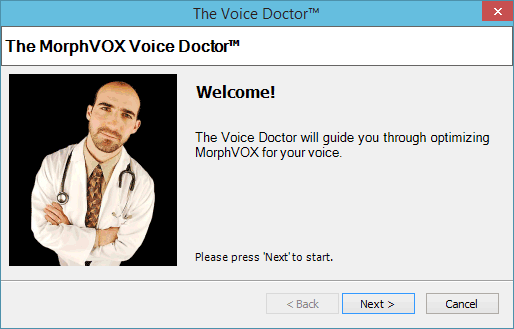 Мастер настройки Voice Doctor
