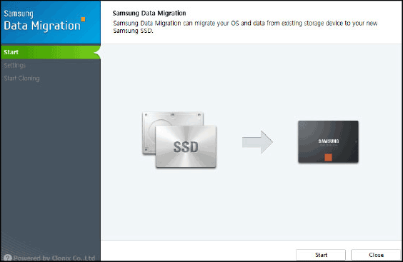 Перенос Windows на SSD в Samsung Data Migration