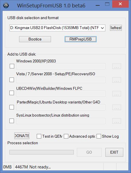 Мультизагрузочная флешка в WinSetupFromUSB