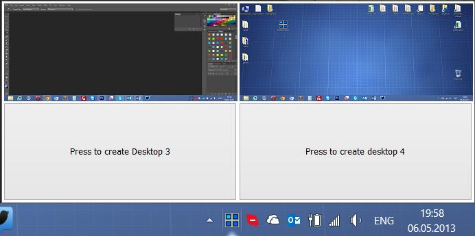 Несколько рабочих столов в Windows 8