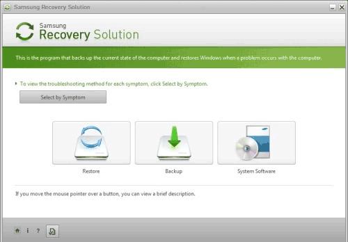Пример программы восстановления ноутбука