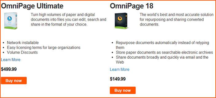 Цены Omnipage