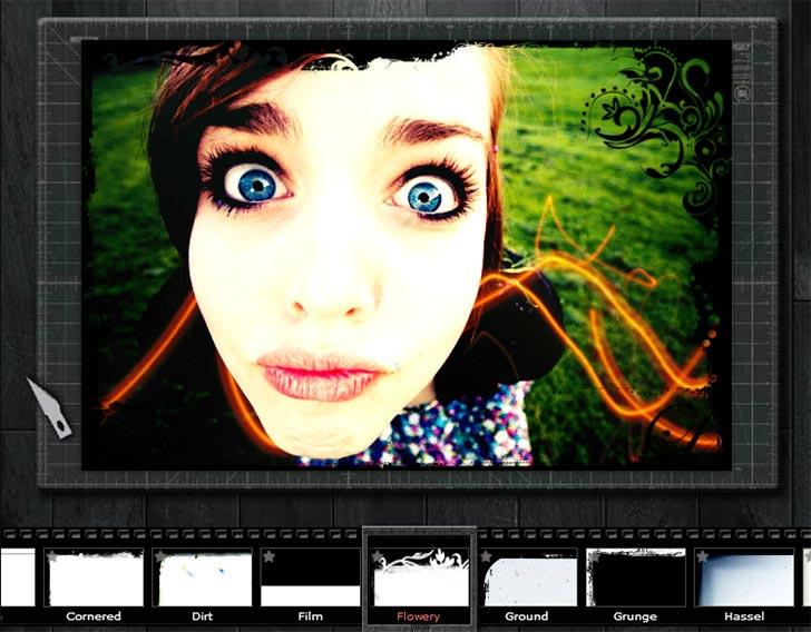 Наложение эффектов на фото и коллаж на Pixlr