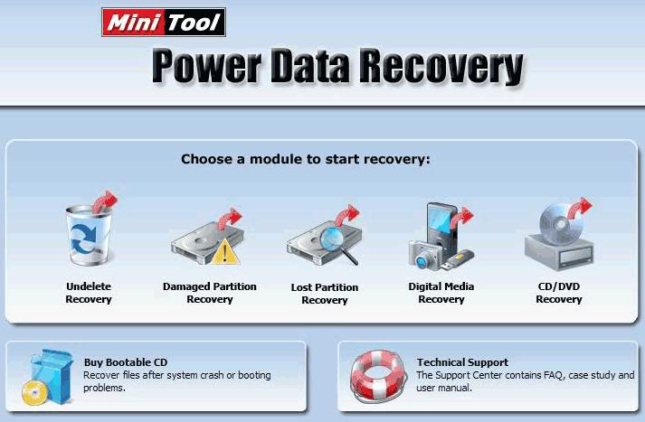 Главное окно Power Data Recovery