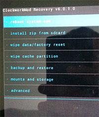 Перезагрузка устройства в Recovery Mode