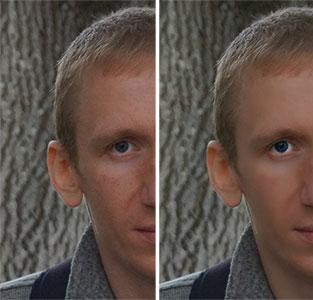 Результат ретуши фотографии