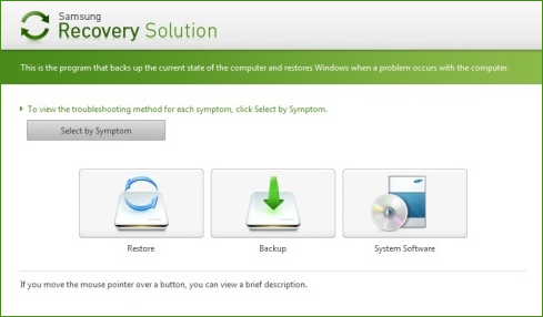 Утилита восстановления Samsung Recovery Solution