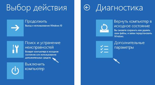 Диагностика ошибок запуска Windows 10
