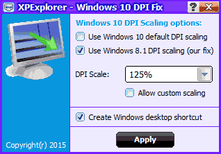 Программа Windows 10 blurry DPI fix