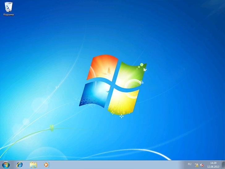 Установка Windows 7 завершена