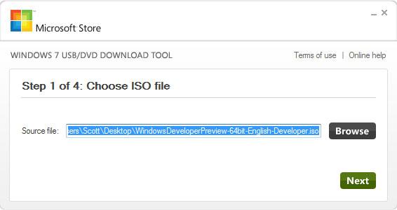 Создание загрузочных флешки и диска в USB/DVD Download Tool