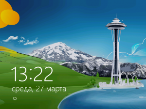 Экран блокировки Windows 8