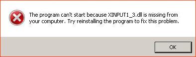 Ошибка xinput1_3.dll