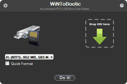 Сделать загрузочную флешку Windows 7 в WiNToBootic