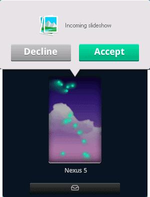 Показ слайдшоу через Filedrop