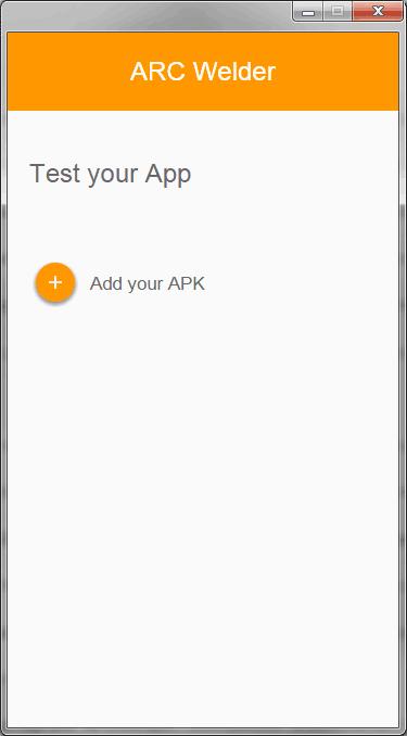 Добавить Android APK для запуска