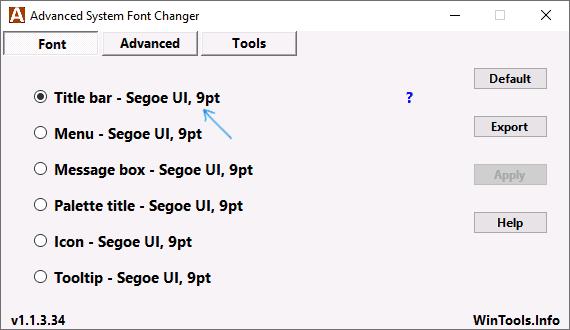 Изменение шрифта в Advanced System Font Changer