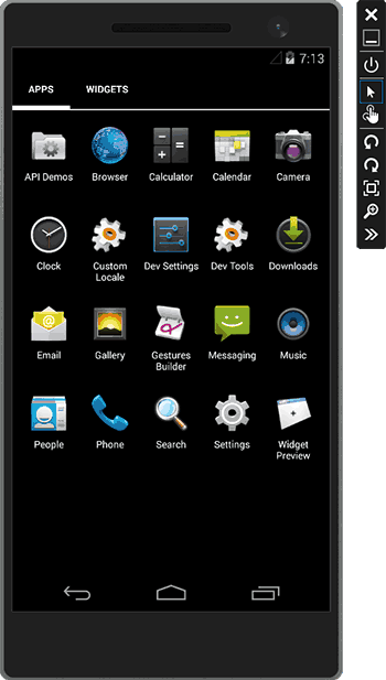 Visual Studio uchun Android emulyatori