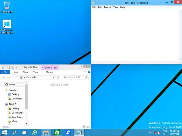 Размещение приложений в Windows 10