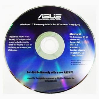 Диск восстановления Asus