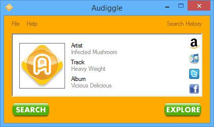 Определение песни по звуку в Audiggle