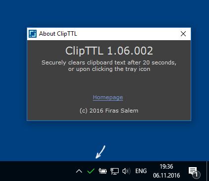 Автоматическая очистка буфера обмена в ClipTTL