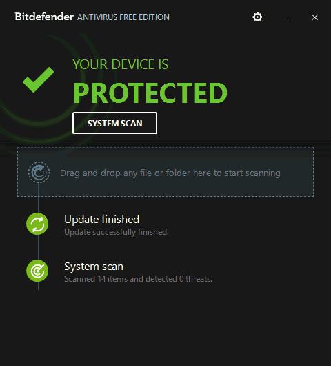 Бесплатный антивирус Bitdefender Free