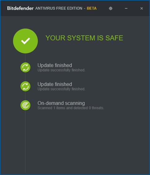 Бесплатный антивирус BitDefender 2017