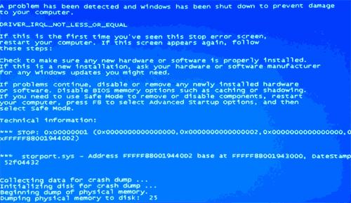 Синий экран смерти 0x000000d1