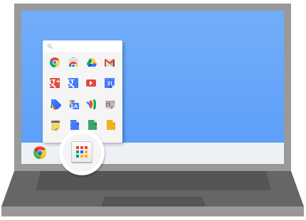 Панель запуска приложений Chrome