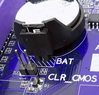 Джампер очистки CMOS